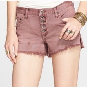 Free People.Button Fly Short
